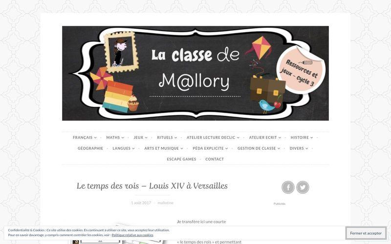 La classe de Mallory : Louis XIV à Versailles